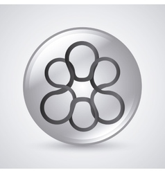 link symbol design flat connection vector image