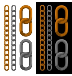 Seamless golden and silver chain vector image vector image