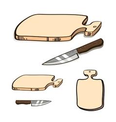 BoardAndKnife vector image