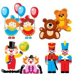 Children's toys vector image vector image