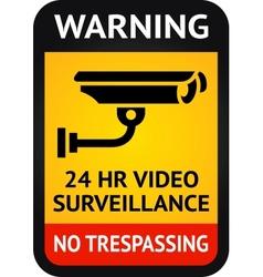 Video surveillance symbol vector image vector image
