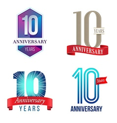 10 years anniversary symbol vector