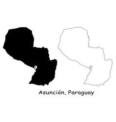 1136 asuncion paraguay vector image