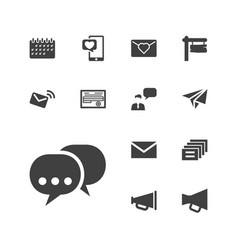 13 message icons vector