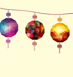 About traditional festival polygonal lanterns vector