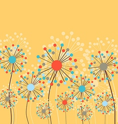 Abstract dandelion flowers background vector