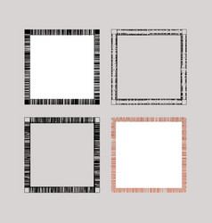 abstract frameworks from lines vector image