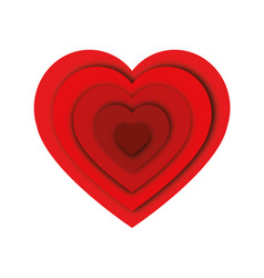 abstract heart shape love concept vector image