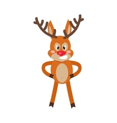 Angry Deer Cartoon Flat vector
