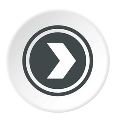 arrow to right in circle icon circle vector image