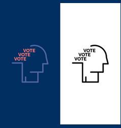 Ballot election poll referendum speech icons flat vector