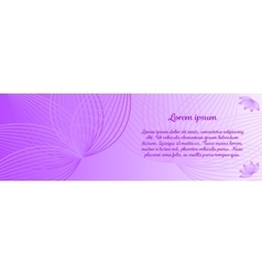 Beautiful banner with flowers vector image
