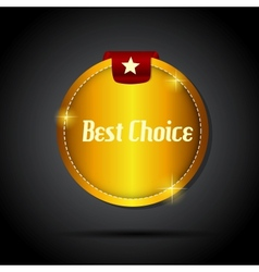 best choice label with red ribbon vector image