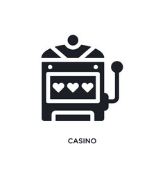 Black casino isolated icon simple element from vector