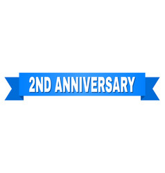 Blue tape with 2nd anniversary title vector