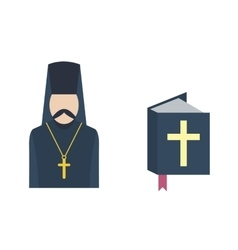 Catholic priest icon vector