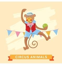 Circus monkey animal series vector