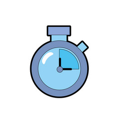 clock alarm to know the hour time vector image vector image