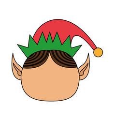 Color image cartoon front view faceless christmas vector