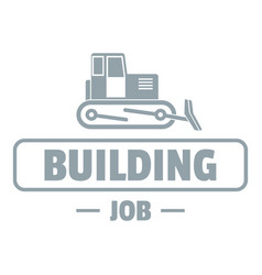 construction logo simple gray style vector image