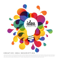 Creative idea template vector