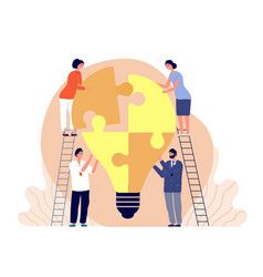 creative team working together business idea vector image