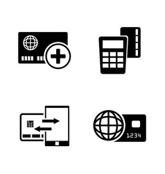 Direct payments simple related icons vector