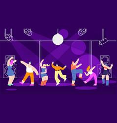 Disco people banner template nightclub design vector