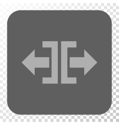 Divide Horizontal Direction Rounded Square Button vector