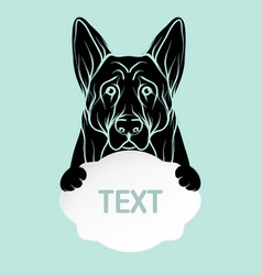dog and card template icon design dog vector image