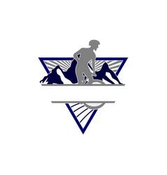 Downhill mountain bike esport logo vector