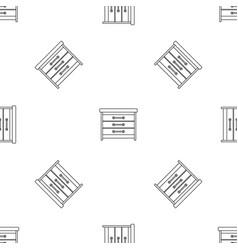 dresser pattern seamless vector image