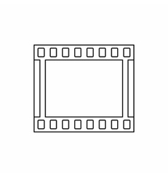 Film strip icon in outline style vector image