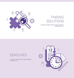 Finding solutions and deadlines business concept vector