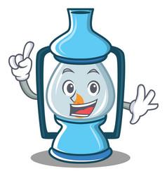 Finger lantern character cartoon style vector
