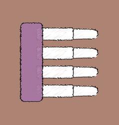 Flat shading style icon military ammunition vector