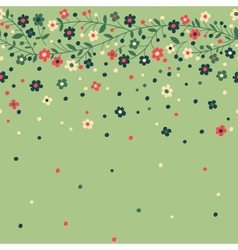 Flowering branches vector image