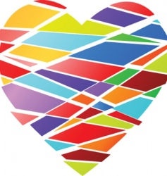 fractured heart vector image