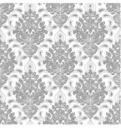 Grunge damask seamless pattern background vector