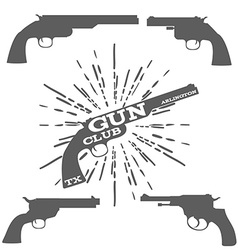 Gun Club Design Elements vector image vector image