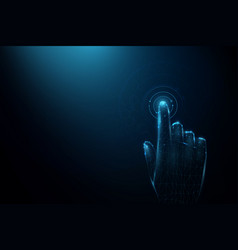 hand touching futuristic technology connection vector image