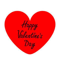 happy valentines day sign symbol big red heart vector image