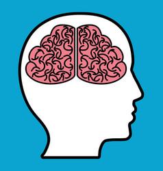 Head with brain icon vector