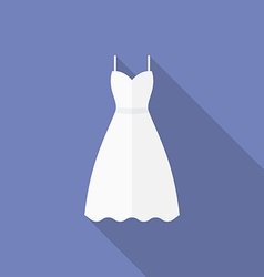 Icon of a wedding dress Flat style vector