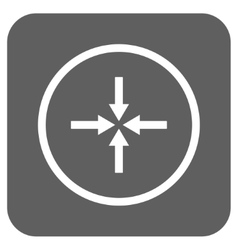 Impact arrows flat squared icon vector