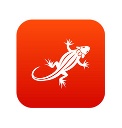 Lizard icon digital red vector