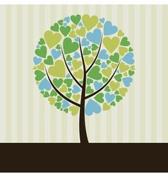 Love tree2 vector image