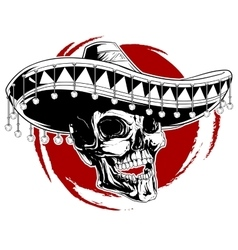 Mexican skull tattoo vector
