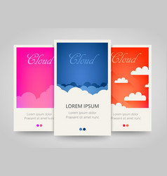 Modern colorful vertical cloud banners cloudy vector