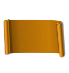 orange scroll isolated on white background paper vector image